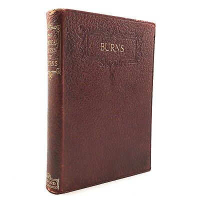 THE POETICAL WORKS OF ROBERT BURNS Oxford Edition Antique Book Faux Leather 1923