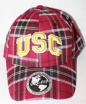 Top of the World USC University of Southern California Metro Plaid Hat Cap