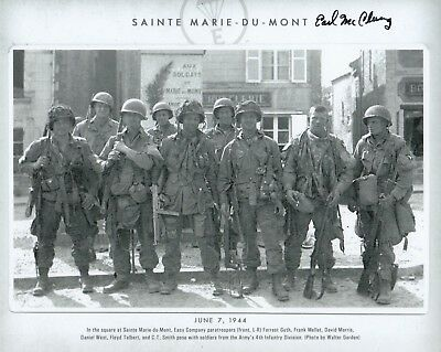 Sainte Marie du Mont Band of Brothers Autographed 5 sig Photo w// Shifty /& Guth!