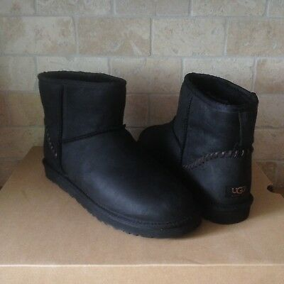 3e087610bbe UGG CLASSIC MINI Deco Water-resistant Leather Sheepskin Boots Size US 9 Mens