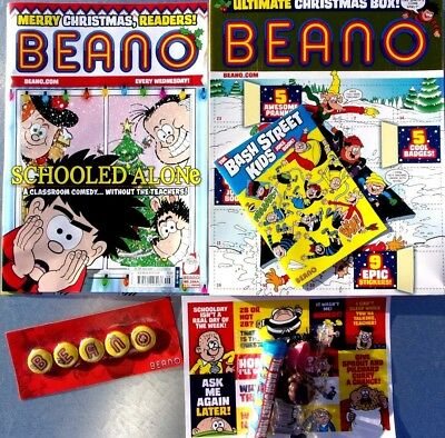 BEANO COMIC MAGAZINE 8th DECEMBER 2018 ULTIMATE CHRISTMAS BOX ~ NEW ~