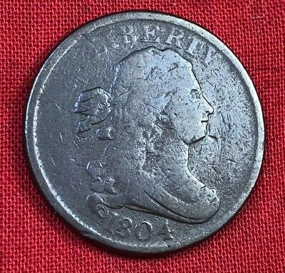 1804 Draped Bust, Spiked Chin, USA Half Cent