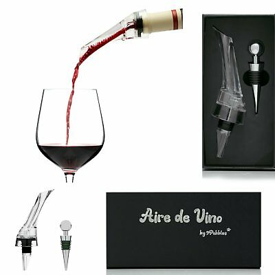 Premium Aerating Pourer Wine Decanter Spout Bottle Stopper Wine Lovers Gift Box