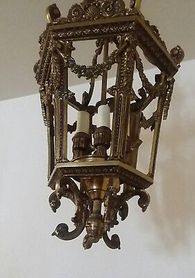 french bronze lantern barbola rose antique louis xvi