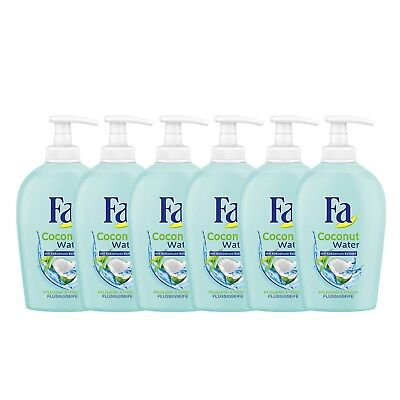 Fa Coconut Water Extract Liquid Soap Hand Washes  - 6 x 250ml / 8.45 fl.oz