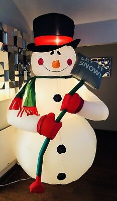Gemmy 8' Giant Huge Airblown Light Up Inflatable Snowman