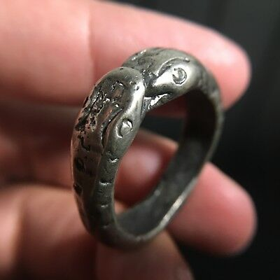 Beautiful Ring 2 Snakes Thai Amulet Love Luck Rich Attract Charm Protect Size 12