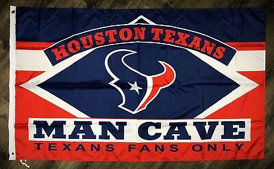 HOUSTON TEXANS NATION Man-Cave NFL FLAG 3x5 ft Sports Banner