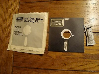 """Tandy Computer Products 5 1/4"""" Disk Drive Cleaning Kit (Radio Shack) - Used"""