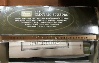 Vintage Sears And Roebuck 2 Speed Electric Scissors Fabric Sewing Shears