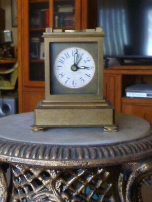 RARE Timeworks Vintage Bronze French Carriage Clock