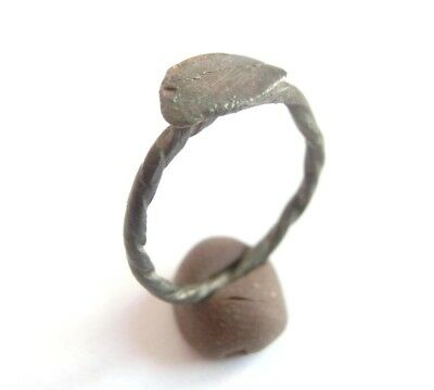 Amazing Ancient CELTIC Twisted Billon Small Lady's Finger Ring > La Tene Culture