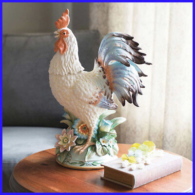 Fitz & Floyd Toulouse Rooster Centerpiece, Hand-crafted, Gift Or Collectible