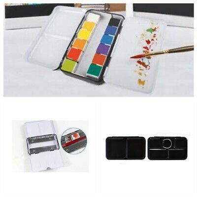 12 Blocks Iron Empty Watercolor Paint Tin box Metal Case 1PC