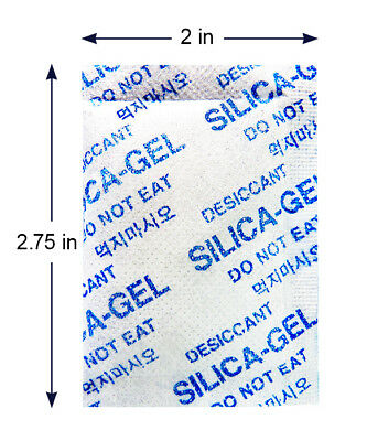 """5 Gram [3000 Pack] """"Dry & Dry"""" Silica Gel Desiccant Packets - Rechargeable Cloth"""