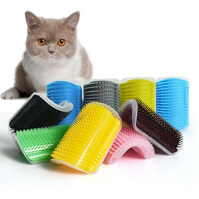 Pet Cat Self Groomer Brush Wall Corner Grooming Hair Fur Comb Massage Tool HOT M