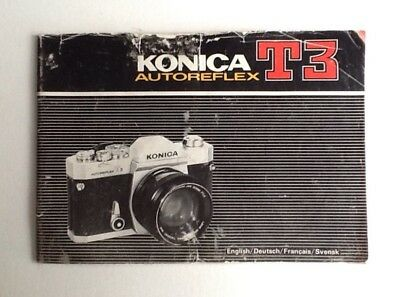 Mode D'emploi KONICA AUTOREFLEX T3 manual Instructions English Deutsch Français