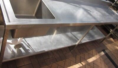 Austmont Made Commercial Stainless Steel Single Sink Bench 3.1M