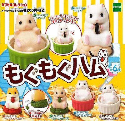 Epoch Munching hamster 6 set animal Hamster figure Capsule toy From Japan F/S