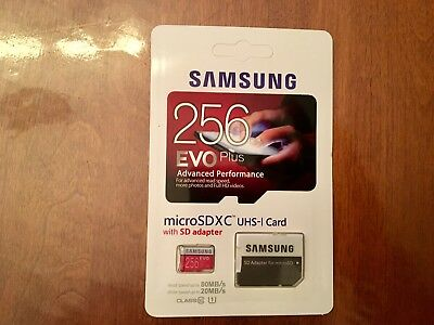 Carte Memoire Micro sd 256 GB Evo Plus Samsung avec Adapteur SD, Classe 10