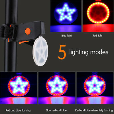 Cycling LED USB Rechargeable Bike Bicycle Tail Warning Light Rear Safety5 Models