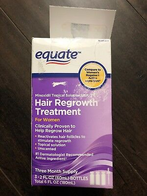 equate hair regrowth treatment Minoxidil Topical Solución 3 Month FREE SHIPPING