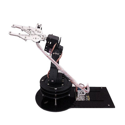 5 Axis Metal Robot Robotic Mechanical Arm Gripper Kit with Rotating Base DIY