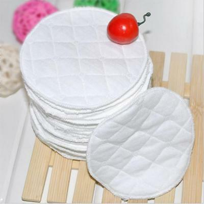 Reusable Bamboo Breast Pad Nursing Waterproof Plain Washable Pads 20pcs WE9Z