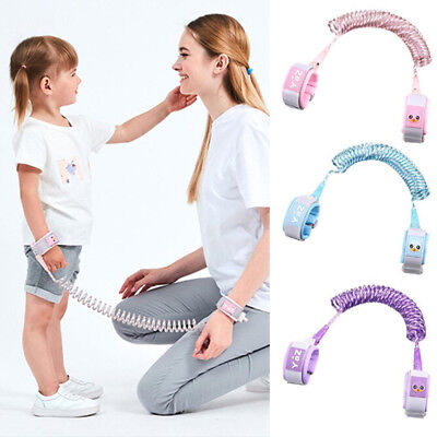 Safety harness leash anti lost wrist link traction rope for toddler baby kids IO