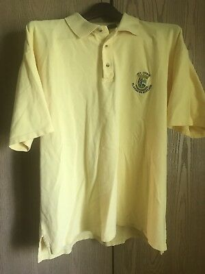 OLD COURSE ST ANDREWS SCOTLAND Men's 100% Cotton Embroidered Golf/Polo Shirt⛳️L