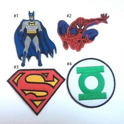 Superhero batman Spiderman Superman Green Lantern Embroidered Iron On Patch DIY