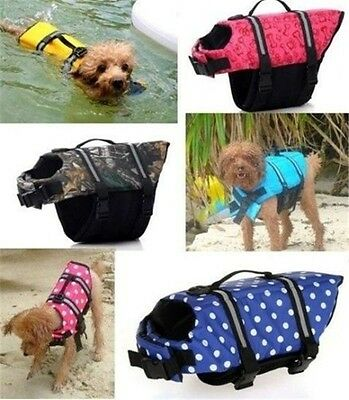 Dog Life Jacket Swimming Float Vest Buoyancy Aid Pet XS SMALL MEDIUM EXTRA LARGE
