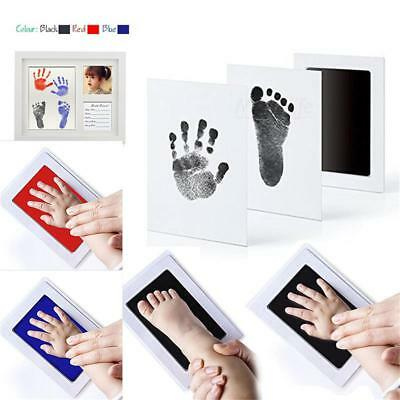 Baby Inkless Wipe Kit Hand Foot Print Keepsake Newborn Handprint WE9Z