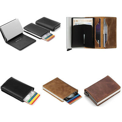 Mens Anti-theft RFID Blocking Slim Wallet Tactical Credit Card Holder Coin Purse
