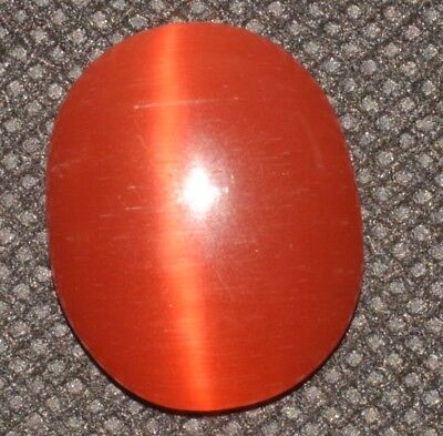 19.20 Ct Natural Orange Cat's Eye AGSL Certified Cabochon Rare Found Loose Gem