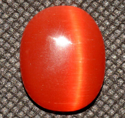 22.55 Ct Natural Orange Cat's Eye AGSL Certified Cabochon Rare Found Loose Gem