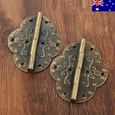 Vintage Stamp Cabinet Door Hinges Jewelry Box Oval Drawer Hinge 69*53mm AU STOCK