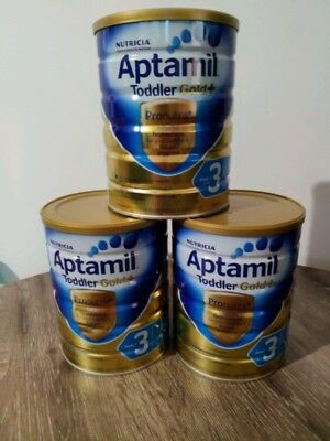 3 x Aptamil Gold Stage 3 Toddler From 1 Year Nutritional Supplement 900g