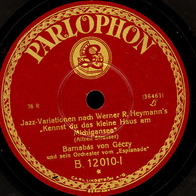 "BARNABAS VON GECZY ORCH. Jazz-Variationen ""...am Michigansee"" / Leila     S7177"