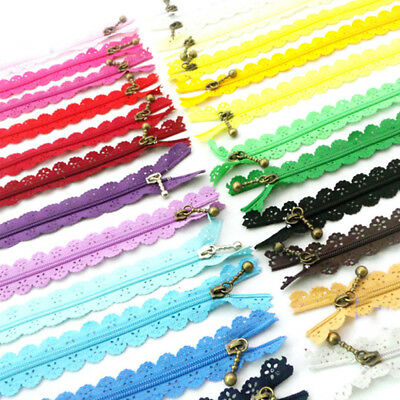 10x Nylon Mixed Color Lace Edge Zipper Puller DIY Craft Zip Tailor Sewing kit