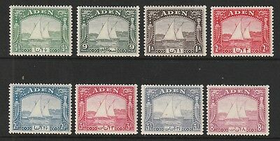 GEOVI ADEN 37  dhows  to 8a fresh lmm cat £70+  fine  3a &  8a unmounted