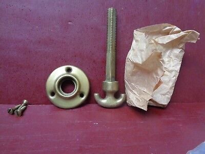 1 More Avail Nos Vintage 1930's Thumb Turn & Rosette Cast Iron & Brass Plated