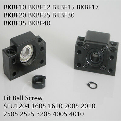 BKBF 10 12 15 20 25 For SFU1204 1605 2510 Ball Screw End Supports Bearing Mounts