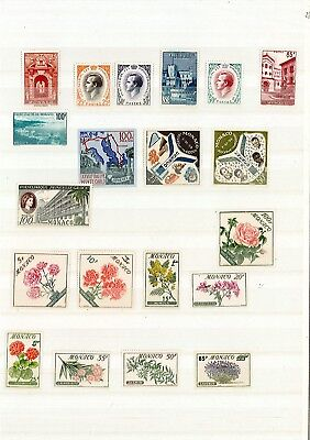 MONACO ANNEE COMPLETE 1959 NEUF ** LUXE 20 timbres +pa n 86 cadeau