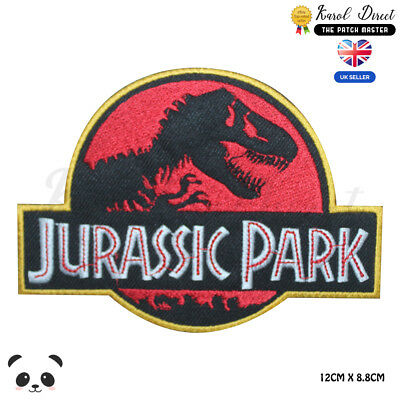 Jurassic Park Movie Video Game Embroidered Iron On Sew On PatchBadge
