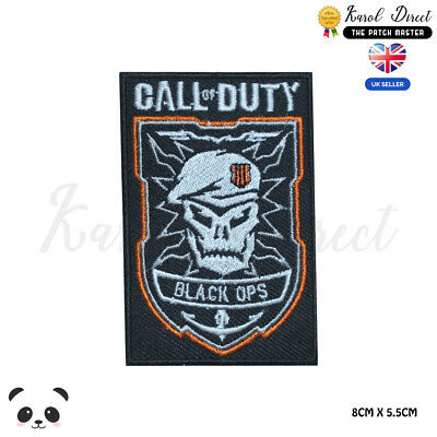 Call of Duty Black OPS Video Game Embroidered Iron On Sew On PatchBadge