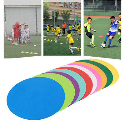 Round Rubber Flat Training Spot Markers Football Pitch Floor Discs Sports LOT