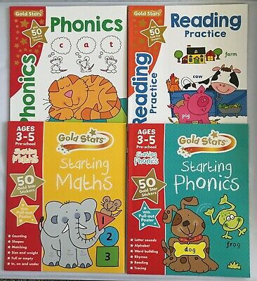Pre school/Reception Goldstars Home learning Educational Workbooks Ages 3-5 NEW