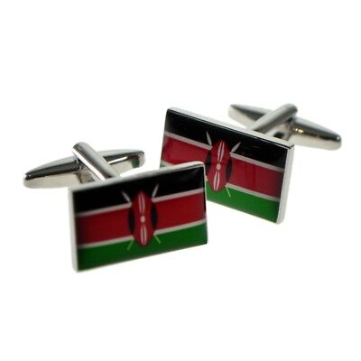 Select Gifts Burundi Flag Cufflinks Engraved Tie Clip Matching Box Set