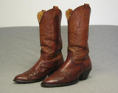 """Vintage Nocona Western Cowboy Exotic Skin boots men's size 10D """"made in USA"""""""